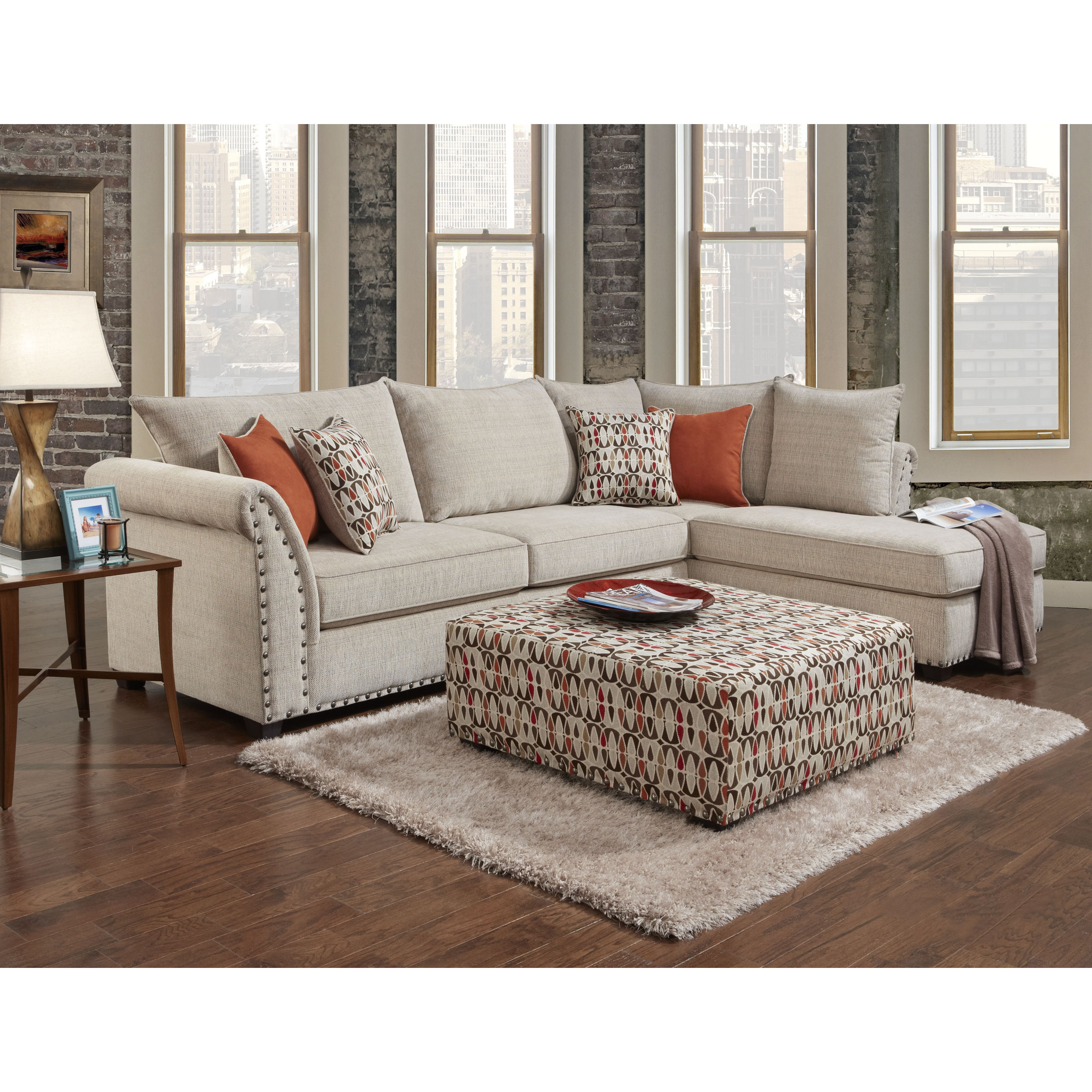 Sofa Trendz Bennington Sectional with Ottoman Set by Overstock
