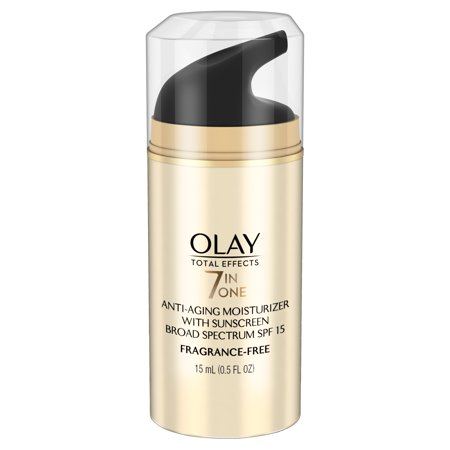 Olay Total Effects Anti-Aging Face Moisturizer with SPF 15 Fragrance-Free, Trial Size 0.5 fl