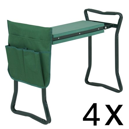 Zeny 4PCS Foldable Garden Kneeler Bench Kneeling Stool Soft Cushion Seat EVA Pad w/ Tool Pouch ()