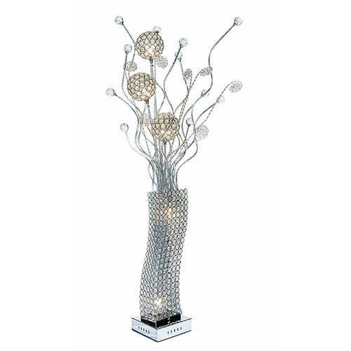 Urban Designs Beaded Crystals Floral Display LED Floor Lamp