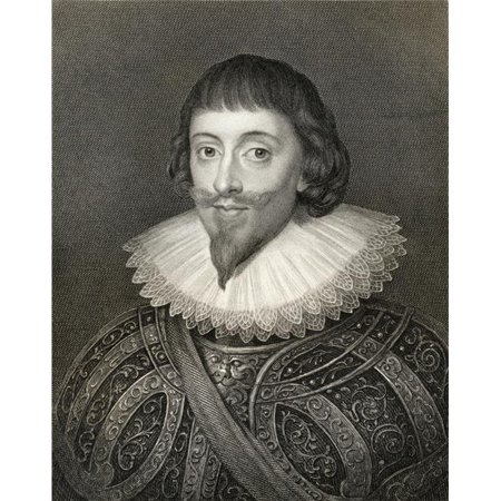 John Powlett, Also Spelled Paulet, 5Th. Marquis of Winchester, 1598-1675 English Royalist From The Book -LodgeS British Portraits Published London 1823 Poster Print, 13 x 17 ()