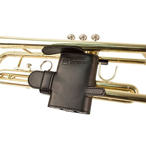 Trumpet 6-Point Leather Valve Guard Black by