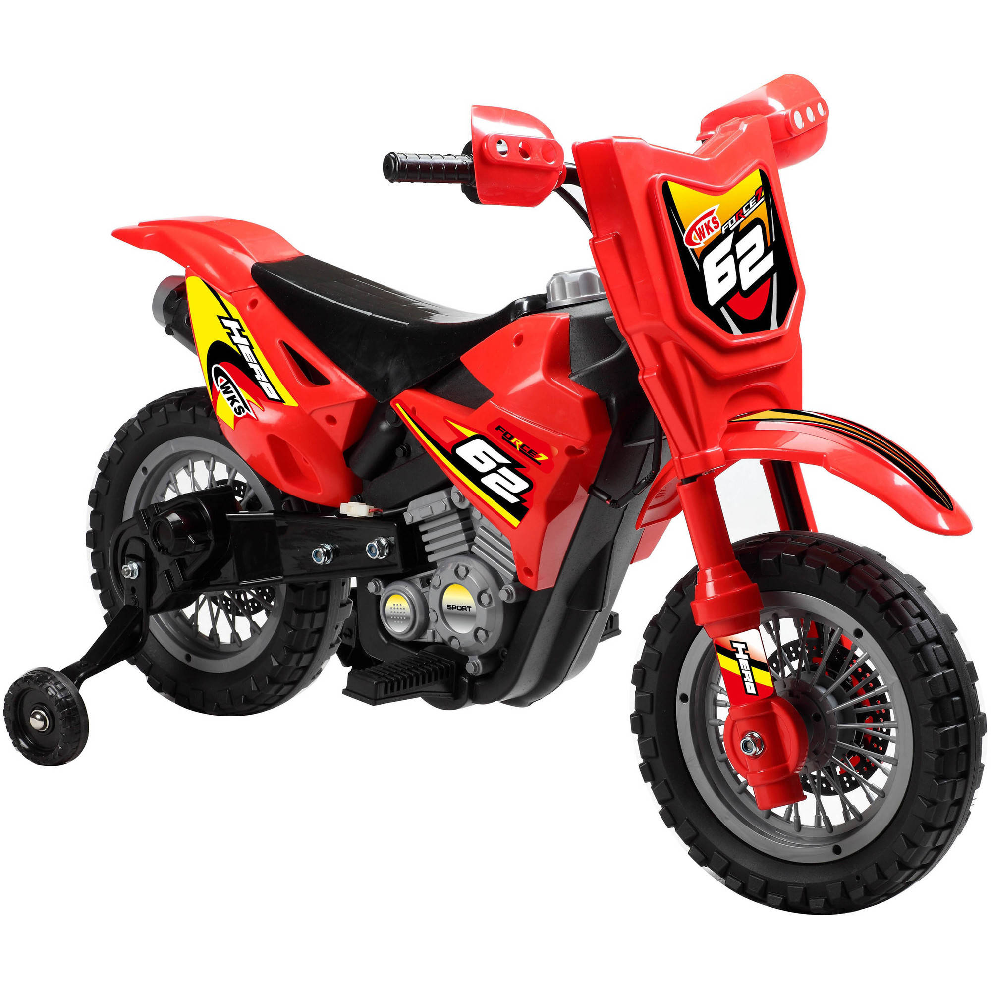 6V Dirt Bike Battery-Operated Ride-On, Red