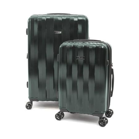 iFLY Hardside Luggage Synergy 2 piece set, Green