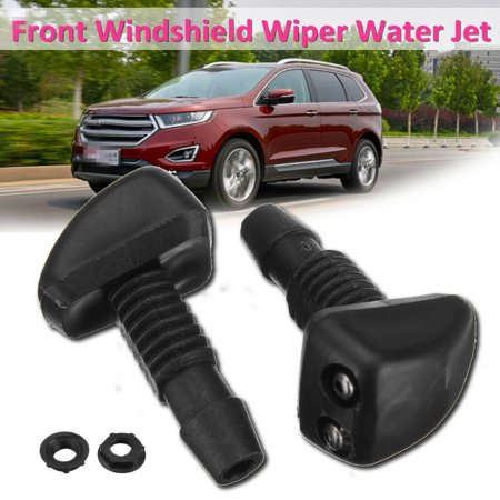 Pair Front Windshield Wiper Washer Sprayer Nozzle Black Universal Car Vehicle US