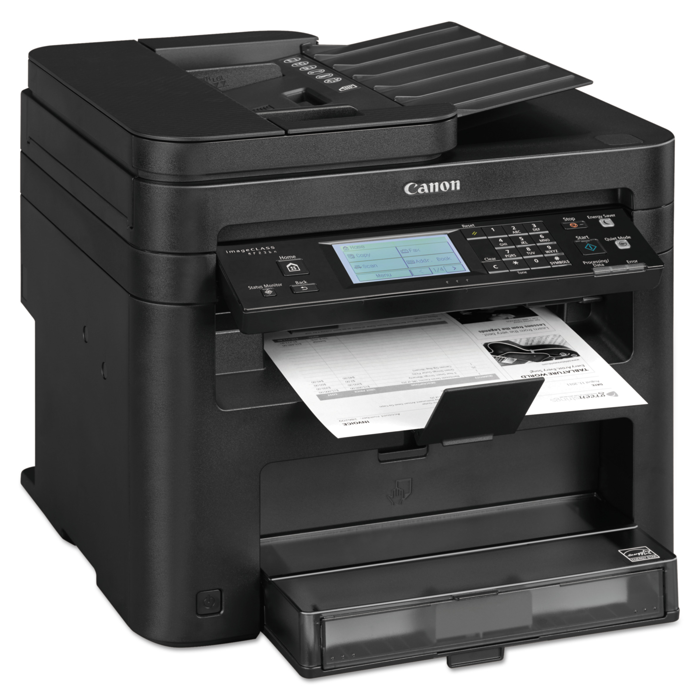 Canon imageCLASS MF236n Monochrome Multifunction Laser Printer, Copy; Fax; Print; Scan