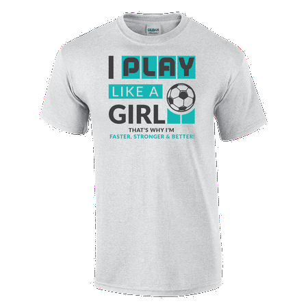 Play Like A Girl Soccer Tee Barcelona Home Soccer Shirt