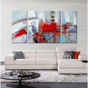 The Lighting Store Hand-painted 'Filled with Light' 3-piece Gallery-wrapped Canvas Art Set