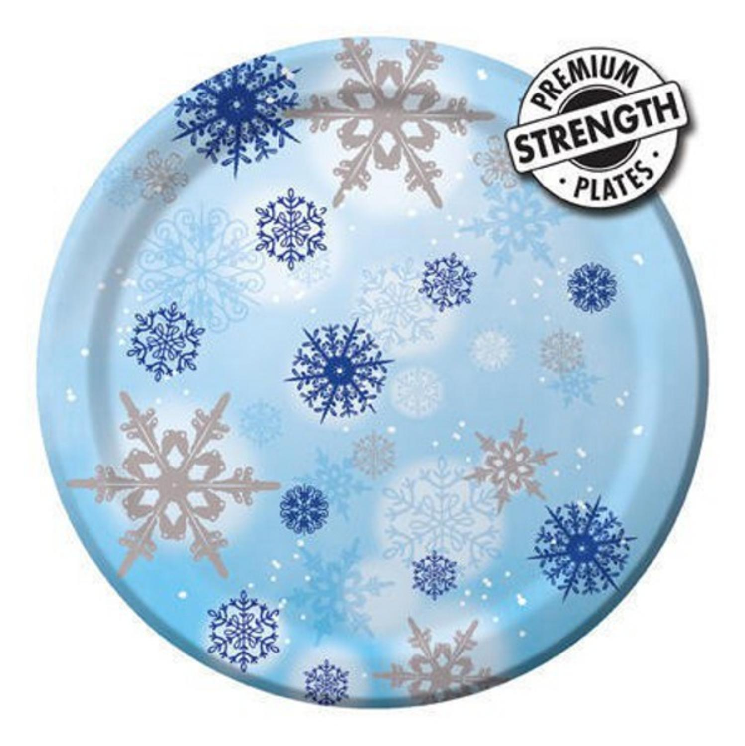 Pack of 8 Shimmering Blue Winter Snowflake Round Party Banquet Paper Plates 10   sc 1 st  Walmart.com & Pack of 8 Shimmering Blue Winter Snowflake Round Party Banquet Paper ...