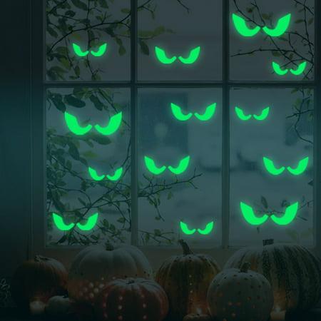 Glow In The Dark Decorations Ideas (Tuscom Peeping Eyes Luminous Sticker Creative Removable Fluorescent Voyeur Eyes Sticker Glow in Dark Decal for Halloween Home Wall Window)