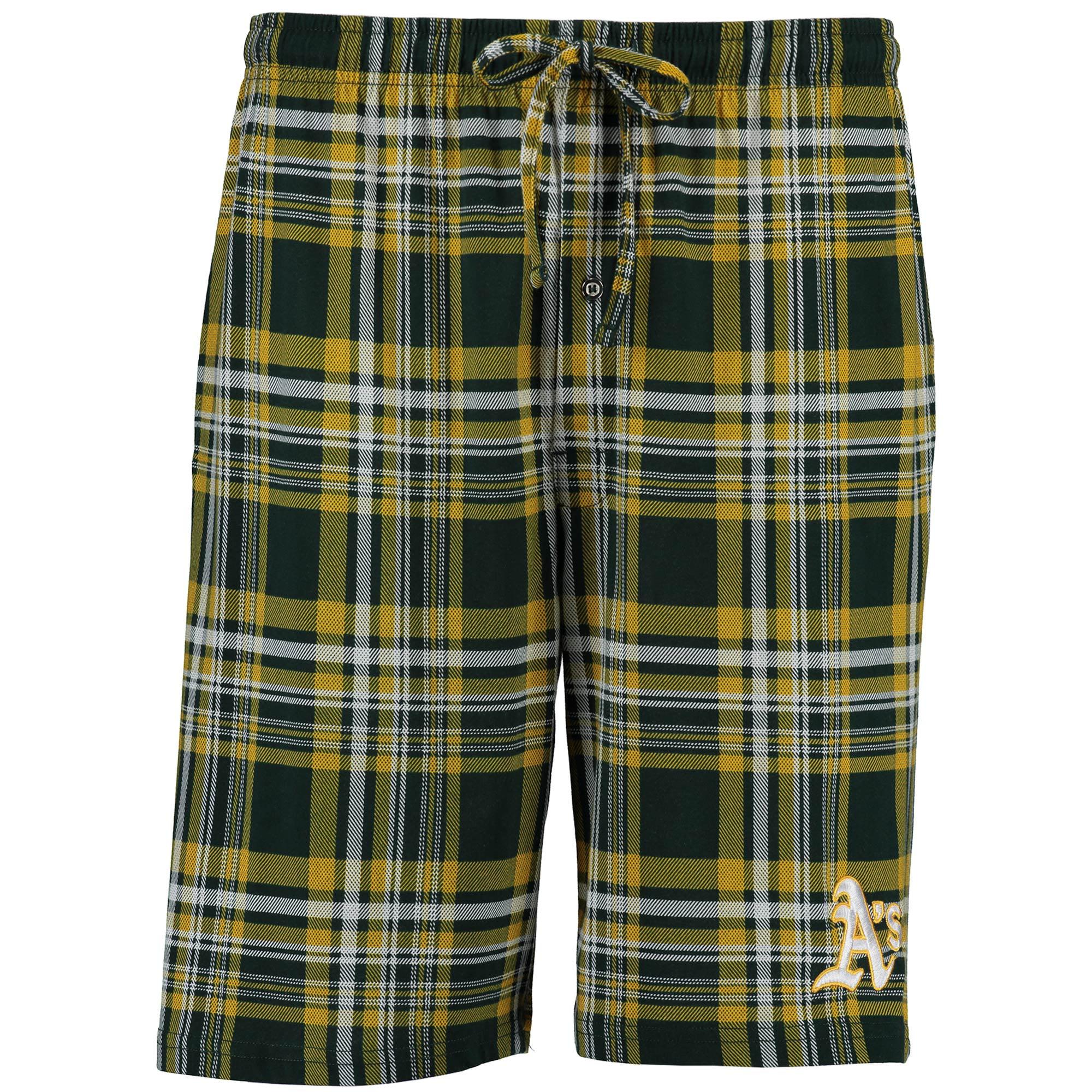 Oakland Athletics Concepts Sport Formation Plaid Shorts - Green