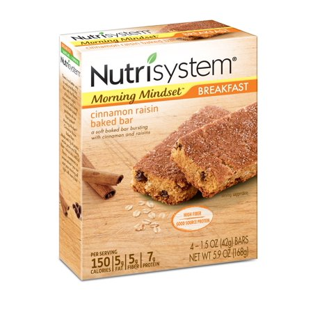 - Nutrisystem Morning Mindset Cinnamon Raisin Breakfast Bars, 1.5 Oz, 4 Ct