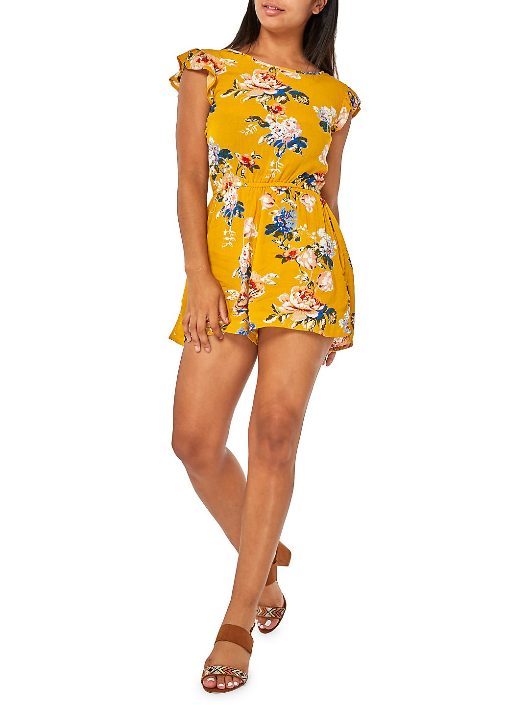 Ruffle Floral Playsuit