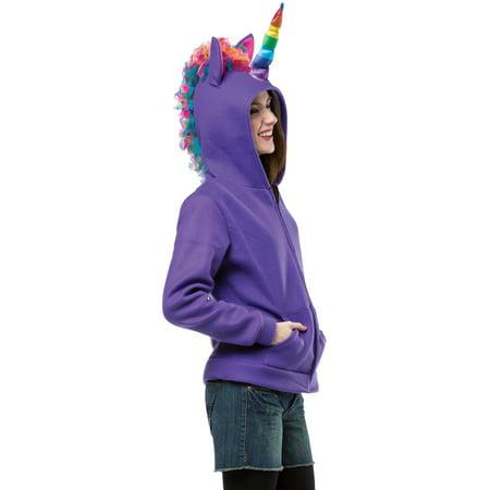 Purple Unicorn Hoodie Costume, Unicorn Halloween Costume - Walmart.com