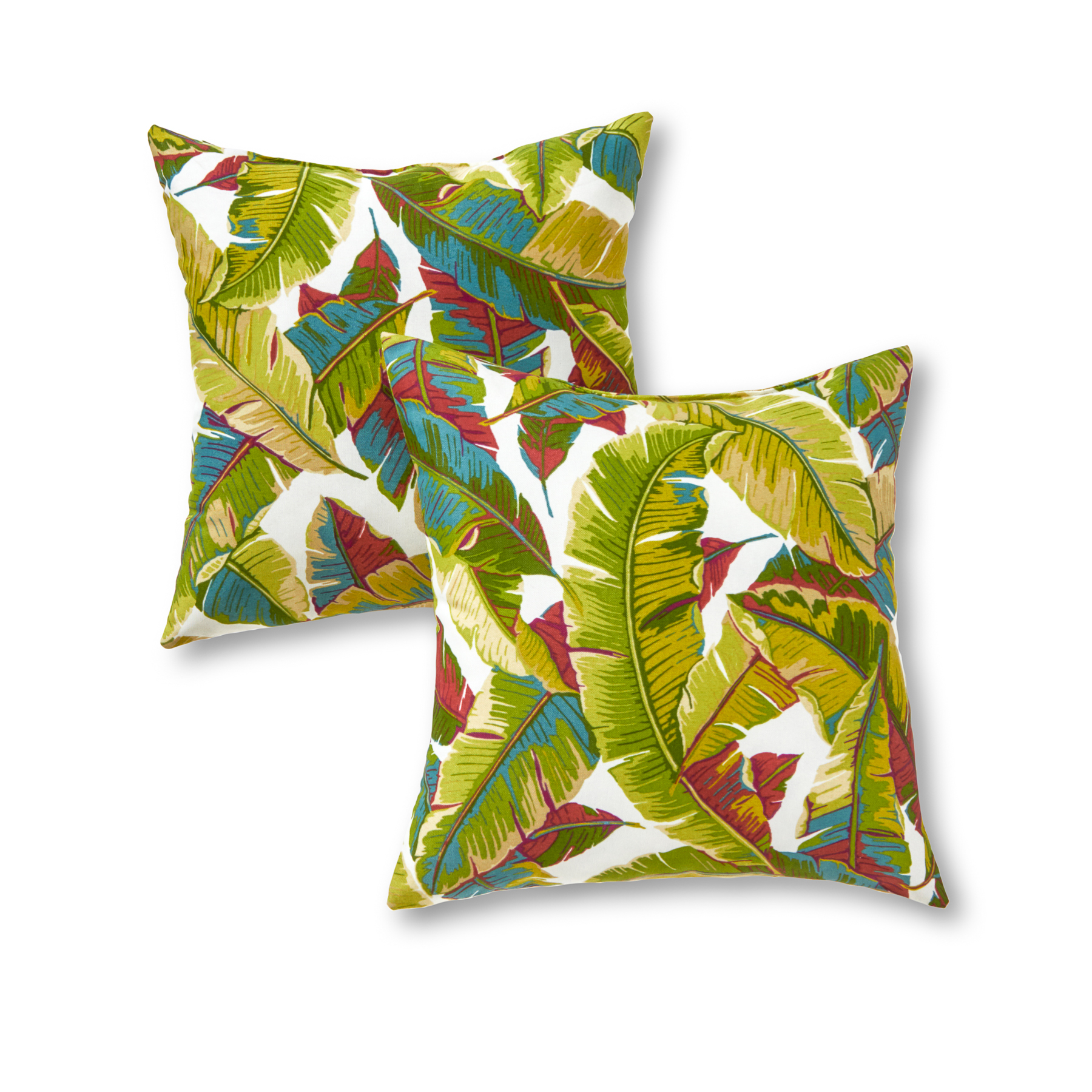 Greendale Home Fashions Palm Leaves Outdoor Accent Pillow, Set of 2