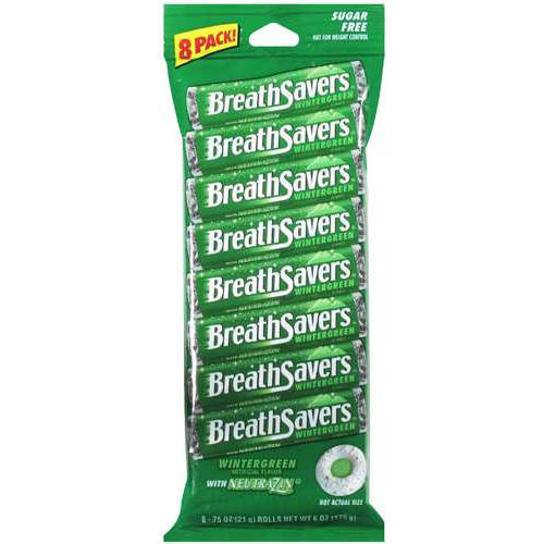 Breath Savers Wintergreen Mints, 6 Oz
