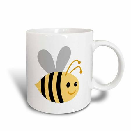 3dRose Cute cartoon bumble bee - Ceramic Mug, (Emma Bridgewater Rose And Bee Mum Mug)