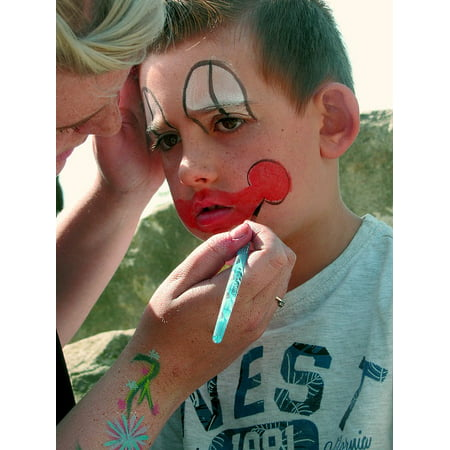 LAMINATED POSTER Face Painting Child Face Paint Clown Painted Poster Print 24 x - Clown Face Painting Designs