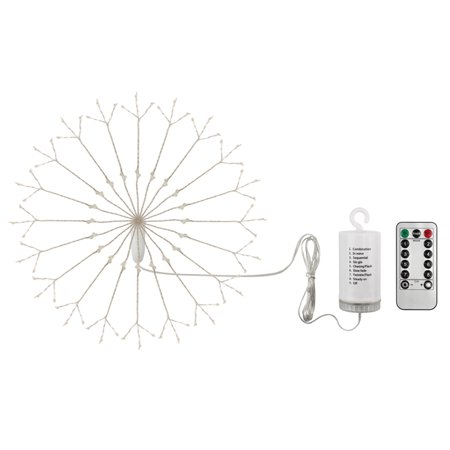 120 LED Fireworks Lamp Explosion Ball Lamp Outdoor Fairy String Lights Outdoors Waterproof Copper Wire Lamp Remote Control with Battery Box Garden and Christmas Party Decoration Landscape (Explosion Proof Fixtures)