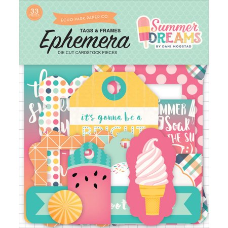- Summer Dreams Ephemera Cardstock Die - Cuts - Frames & Tags