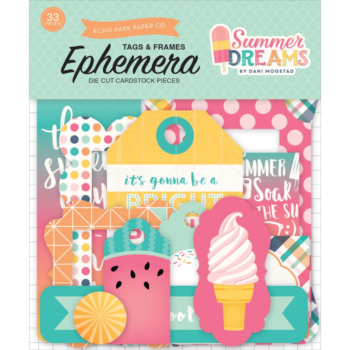 Summer Dreams Ephemera Cardstock Die - Cuts - Frames & Tags