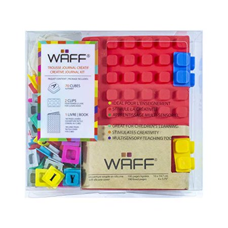 "WAFF, Soft Silicone Cube Tiles And Notebook / Journal Combo, Medium, 5.75"" x 4"" - Red - image 1 of 3"