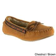 Lugz Women's 'Ohm' Slip-on Suede Moccasin Fringe Shoes Chestnut/Brown-11