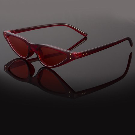 d25e5fae9eebc Sunny Shades - Small Cat Eye Fashion Women Sunglasses Flat Top Retro  Vintage Clout Goggles - Walmart.com