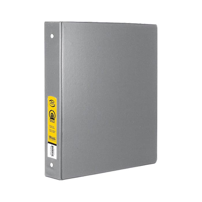 BAZIC 1.5 Inch Grey 3-Ring Binder W/ 2-Pockets Pack OF