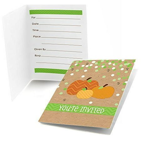 Pumpkin Patch - Fill In Fall & Halloween Party Invitations (8 count)](Painted Halloween Faces On Pumpkins)