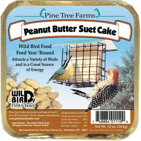 Pine Tree Farms Inc-Suet Cake- Peanut Butter 12 Ounce