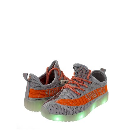 stylesilove Kid Boys Energy LED Light Up Luminous Fashion Sneakers Casual Shoes (13M US Little Kid, - Light Up Spiderman Shoes