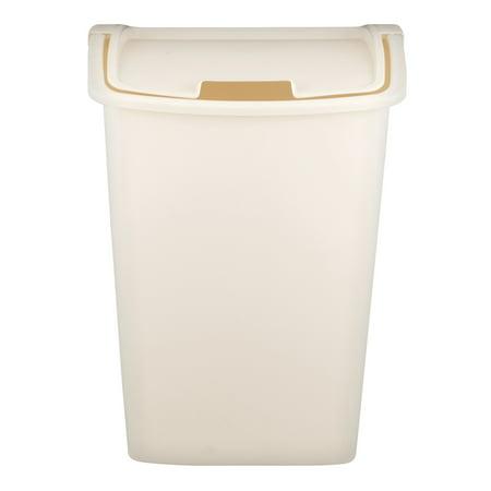 Mahogany Wastebasket - Rubbermaid Dual Action 11.3 Gal Wastebasket, 1.0 CT
