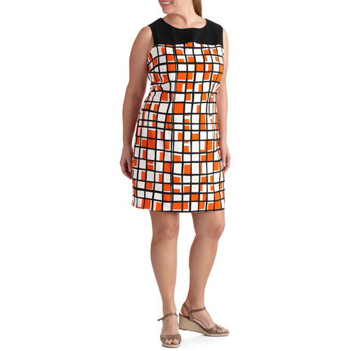 Women's Plus-Size Tank Woven Dress