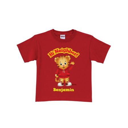 Personalized Daniel Tiger's Neighborhood Hi Neighbor Toddler Boy Red T-Shirt ()