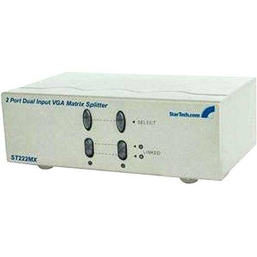 StarTech.com ST222MX 2 Port Dual Input VGA Matrix Splitter
