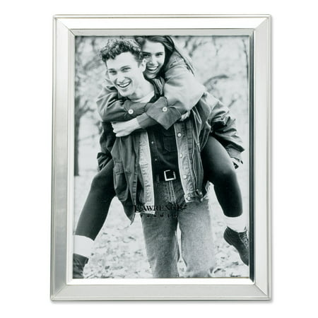 Brushed Silver Plated 3.5x5 Metal Picture Frame ()