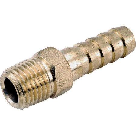 Anderson 757001-0606 Hose to Pipe Insert Fitting, 3/8 in, Barb x MPT, Brass (Mpt Barb Insert)