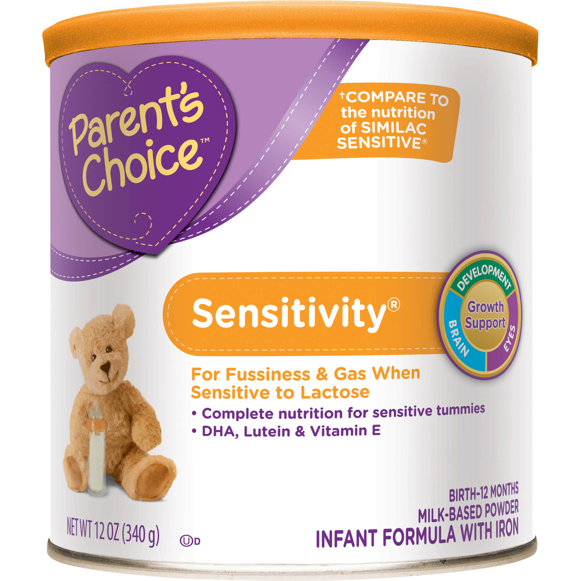 Parent's Choice Sensitivity Powder Infant Formula with Iron, 12oz