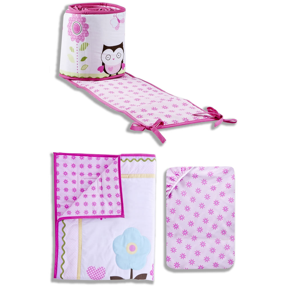 "Dream On Me ""Garden Guardians"" 3-Piece Crib Set"