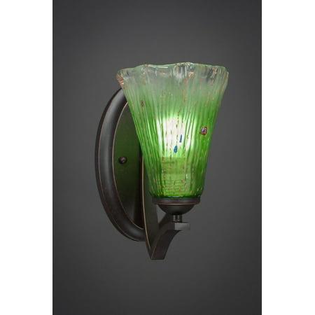 Toltec Lighting-551-DG-723-Zilo - 5.5 One Light Wall Sconce  Dark