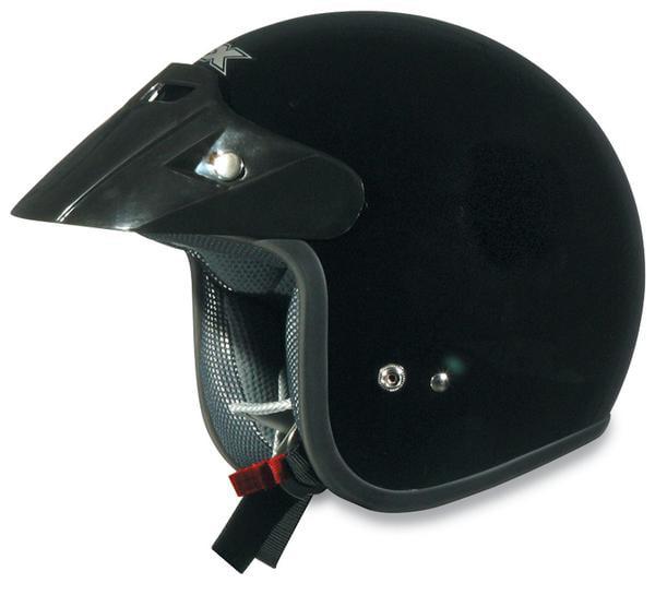 AFX FX-75 Solid Helmet Black