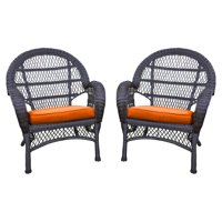 Jeco Santa Maria Wicker Patio Chairs with Optional Cushion - Set of 4