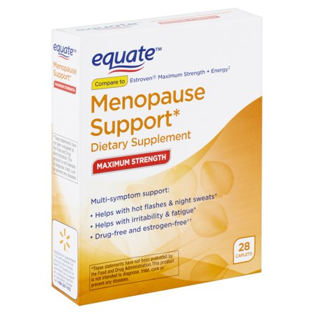 Equate Maximum Strength Menopause Support Caplets, 28