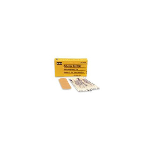 North Safety X 3'' Latex Free Plastic Adhesive Bandage Strip (16 Per Box)
