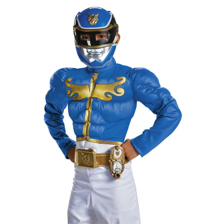 Power Ranger Blue Costume (Disguise Power Rangers Mega Morpher Safety Light Up Costume)