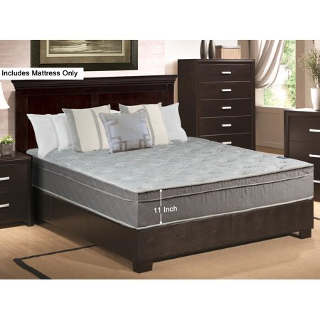 wayton 10 inch medium plush innerspring euro top mattress full xl size. Black Bedroom Furniture Sets. Home Design Ideas