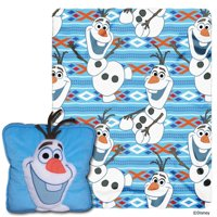 Disney Frozen All About Olaf 14 Inch Pillow and 40x50 Fleece Throw Set