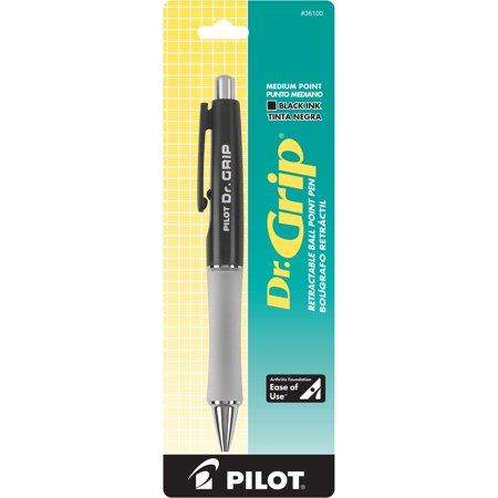 Grip Section Ballpoint Pen - Pilot, PIL36100, Dr. Grip Retractable Ballpoint Pens, 1 Each