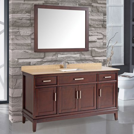 Mtd vanities sierra 60 in single sink bathroom vanity set - Walmart bathroom vanities with sink ...